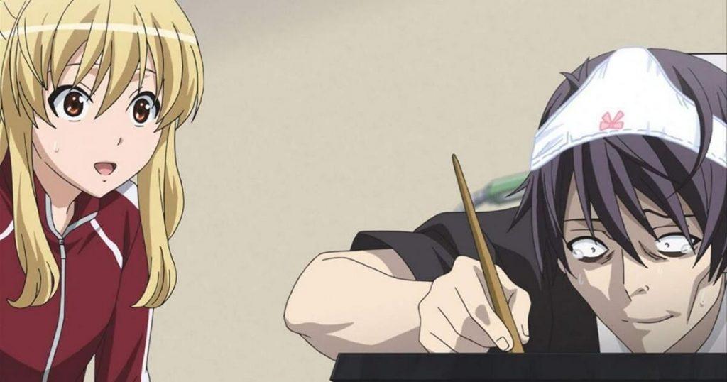 a mangaka at work drawing